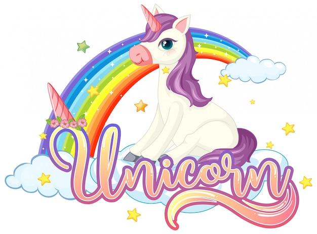 Licorne mignonne avec signe de licorne