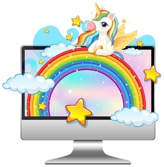 Licorne sur ordinateur portable