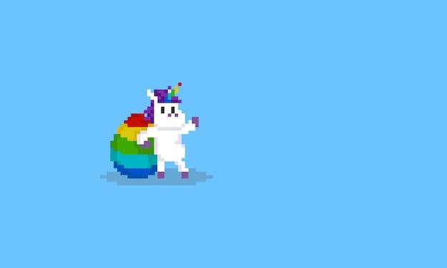 Licorne Pixel Avec Oeuf Arc En Ciel Télécharger Des