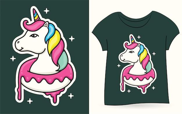 Licorne pour t-shirt