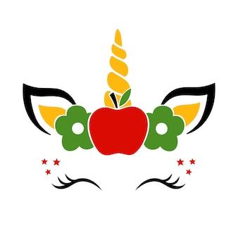 Licorne retour à l'école illustration vectorielle