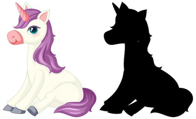 Licorne avec sa silhouette