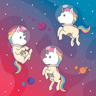 Licornes de l'espace