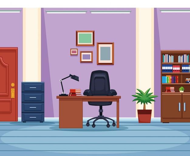 Lieu de travail de bureau