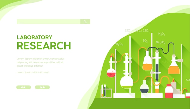 Lieu de travail avec équipement pour les recherches de diagnostic médical, les expériences scientifiques.