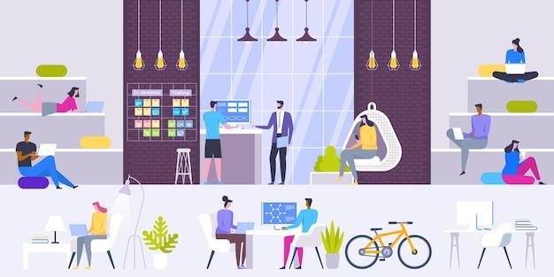 Lieux de travail modernes créatifs intérieurs de bureau