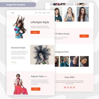 Lifestyle & beauty women landing page