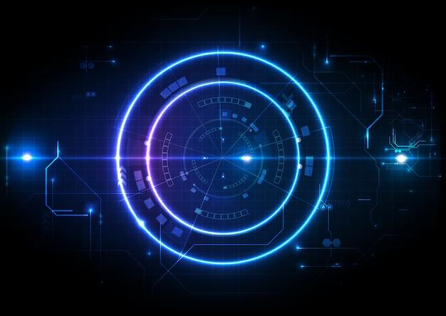 Light futuristic game center circuit digital