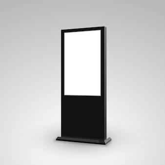 Lightbox de bannière publicitaire de signalisation de stand numérique. marketing de panneau d'affichage de maquette isolé vierge