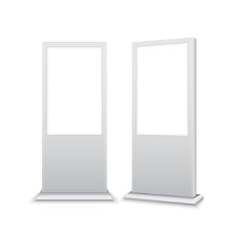 Lightbox de bannière publicitaire de signalisation de stand numérique. panneau de marketing de panneau d'affichage de maquette isolé vierge