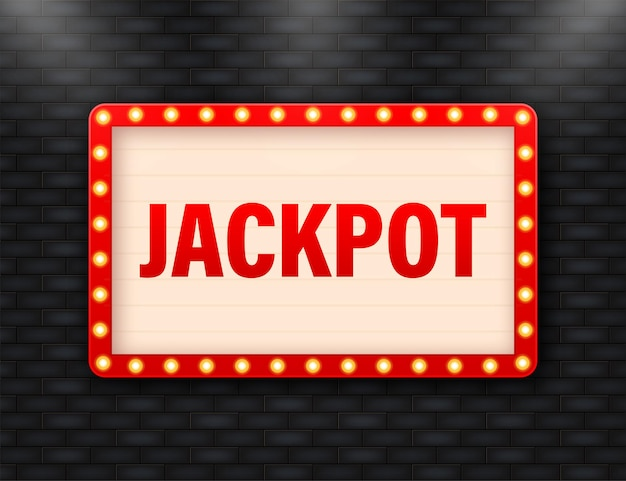 Lightbox jackpot cartoon rétro