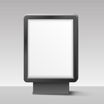 Lightbox vierge ou enseigne sur fond blanc. illustration vectorielle