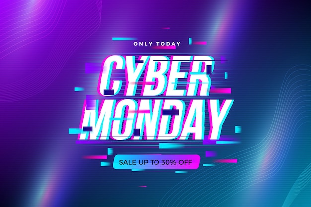 Lighten grafient glitch cyber monday