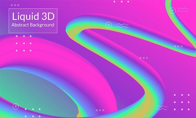 Ligne abstraite 3d fond moderne