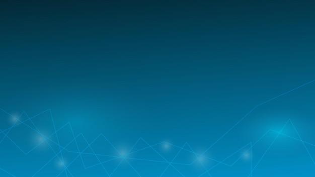 Ligne abstraite avec effet d'éclairage sur fond de couleur dégradé bleu avec espace de copie