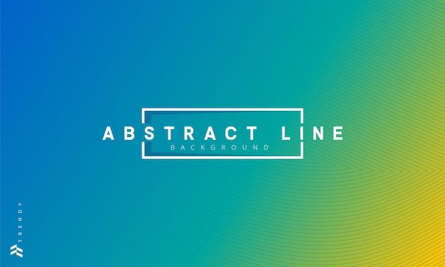 Ligne abstraite en fond dégradé bleu et vert