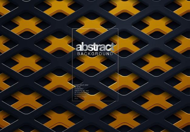 Ligne abstraite fond noir
