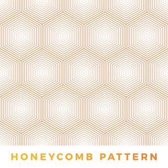 Ligne abstraite motif nid d'abeille.