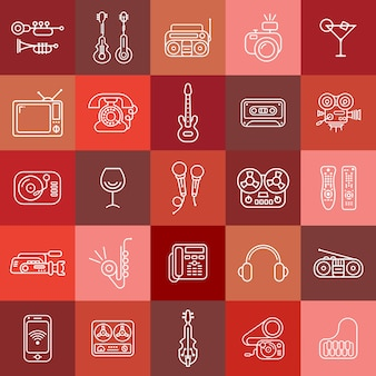 Ligne art vector icons