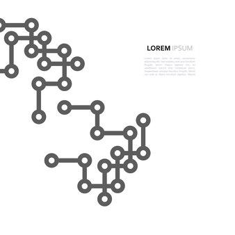Ligne de conception minimale de connexion réseau et point