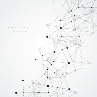 Ligne de connexion abstraite sur fond de science