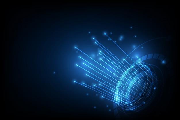 Ligne de connexion sur fond de concept de télécommunication en réseau
