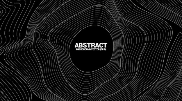 Ligne de courbe de contour numérique et vague avec filaire. abstrait pour le concept de technologie futuriste