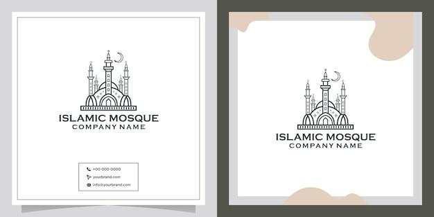 Ligne créative de la mosquée islamique