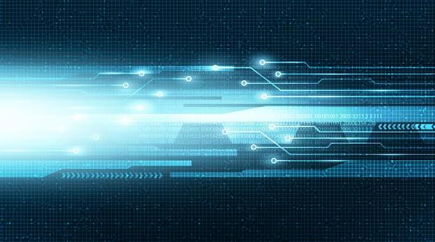 Ligne cyber light electronic avec réseau de circuit numérique