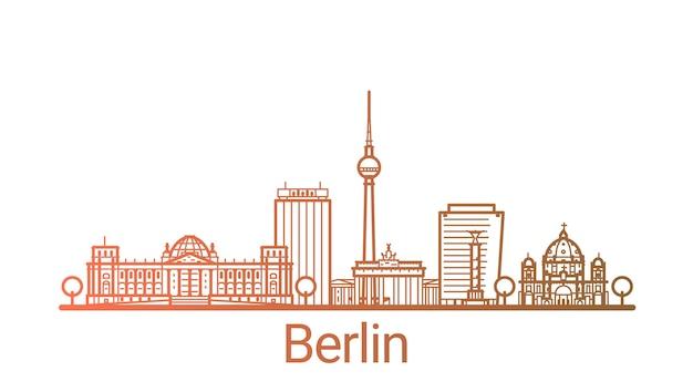 Ligne dégradée colorée de la ville de berlin