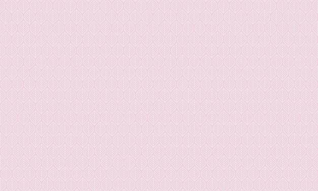 Ligne de feuilles ornées abstraites blanches en motif transparent sur fond rose illustration vectorielle