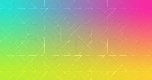 Ligne de formes abstraites rose turquoise vert jaune dégradé papier peint fond illustration vectorielle
