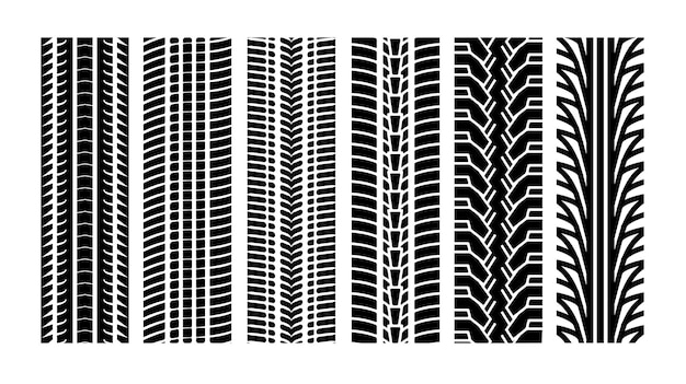 Ligne de frontière de bande de roulement de vecteur de piste de pneu. roue de texture de voiture automobile protecteur de piste de course de pneu.