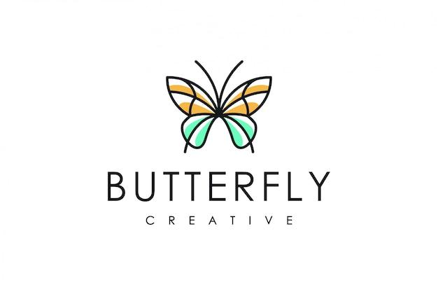 Ligne de logo papillon