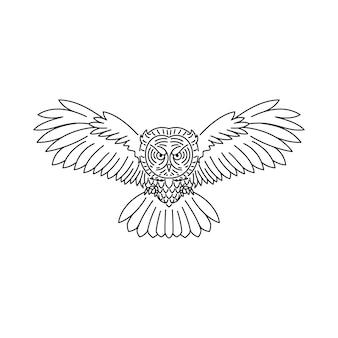 Ligne de loup d'oiseau animal