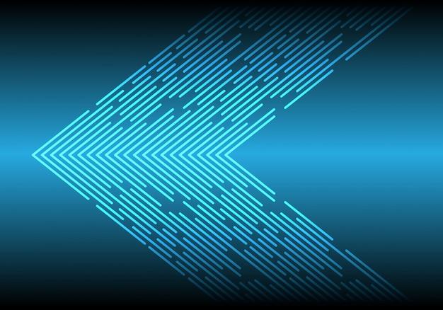 Ligne de lumière bleue données direction flèche technologie fond.