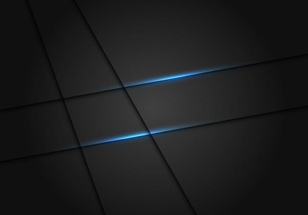 Ligne de lumière bleue ombre fond de luxe gris foncé.