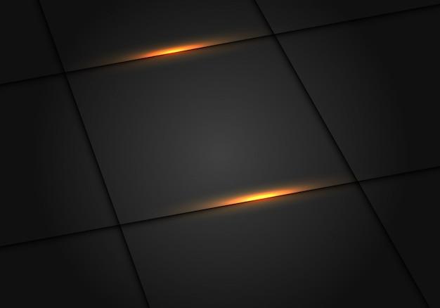 Ligne de lumière jaune ombre fond gris foncé de luxe.
