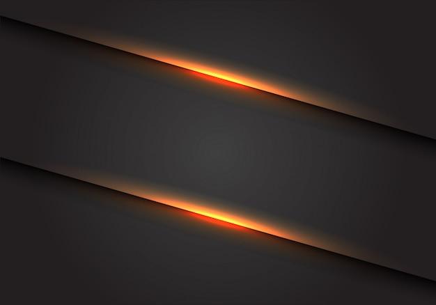 Ligne de lumière jaune slash sur fond d'espace vide gris foncé.
