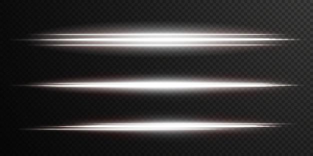 Ligne de lumière ondulée blanche lumineuse sur fond transparent lumière électrique blanche png