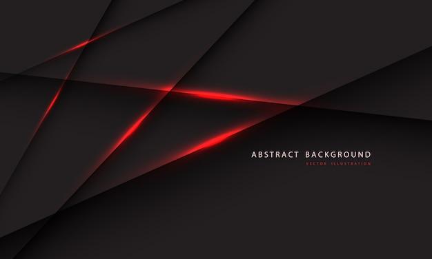 Ligne de lumière rouge abstraite sur fond gris foncé