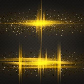 Ligne lumineuse avec des étincelles