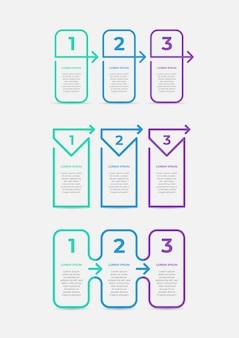 Ligne mince d'infographie d'entreprise moderne avec flèche