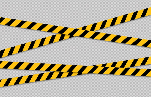 Ligne de mise en garde et de danger ligne de signe d'attention des bandes de police d'avertissement noir et jaune