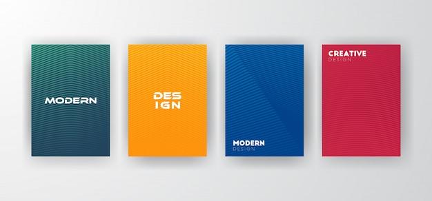 Ligne motif couverture design fond
