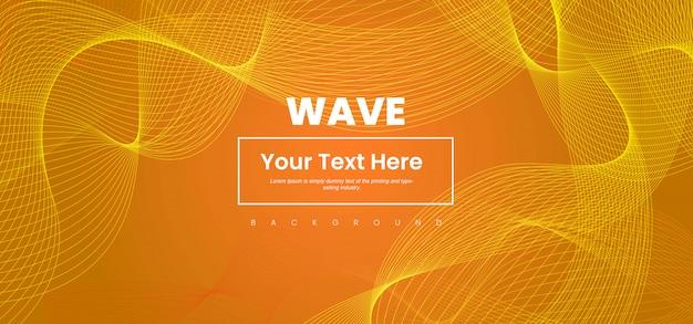 Ligne d'onde abstraite fond coloré