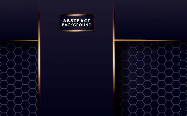 Ligne d'or moderne brillant fond bleu foncé