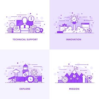 Ligne plate violet 1