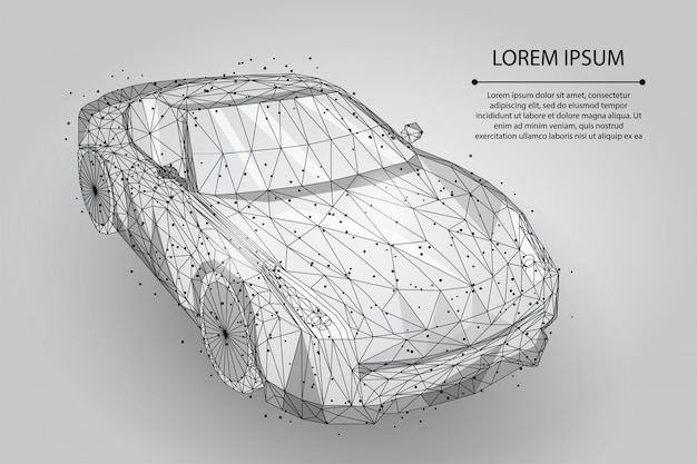 Ligne de purée abstraite et point voiture à grande vitesse