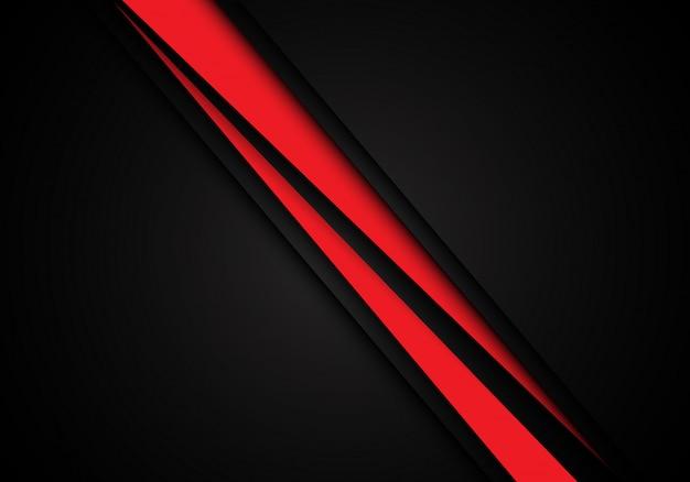 Ligne rouge vitesse de la barre oblique se chevauchent sur fond noir.